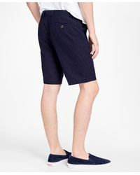 Brooks Brothers - Blue Dobby Dot Shorts for Men - Lyst