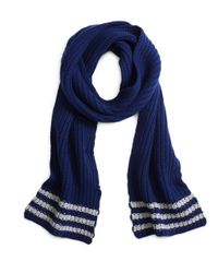 Brooks Brothers - Blue Tipped Cashmere Knit Scarf for Men - Lyst