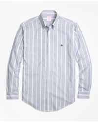 Brooks Brothers - Blue Non-iron Madison Fit Wide Stripe Sport Shirt for Men - Lyst