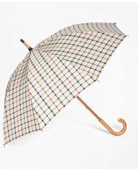 Brooks Brothers | Natural Tattersall Umbrella | Lyst