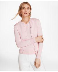 Brooks Brothers - Pink Lightweight Supima® Cotton Cardigan - Lyst