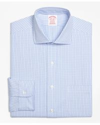 Brooks Brothers | Blue Non-iron Madison Fit Dobby Windowpane Dress Shirt for Men | Lyst