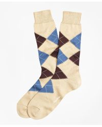 Brooks Brothers | Multicolor Argyle Crew Socks for Men | Lyst