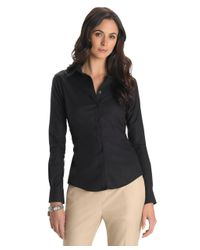 Brooks Brothers | Black Petite Non-iron Tailored-fit Dress Shirt | Lyst