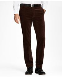 Brooks Brothers - Brown Clark Fit Wide Wale Stretch Corduroys for Men - Lyst