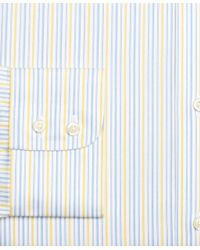 Brooks Brothers White Regent Fitted Dress Shirt, Non-iron Sidewheeler Stripe for men
