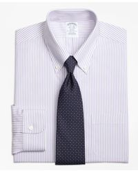 Brooks Brothers | Purple Non-iron Regent Fit Bengal Stripe Dress Shirt for Men | Lyst
