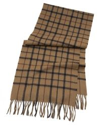 Brooks Brothers | Natural Tattersall Camel Hair Scarf for Men | Lyst