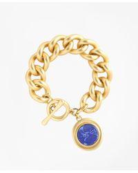 Brooks Brothers - Metallic Gold-plated Toggle Pendant Bracelet - Lyst