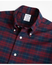 Brooks Brothers - Blue Non-iron Regent Fit Plaid Sport Shirt for Men - Lyst