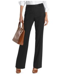 Brooks Brothers - Black Plain-front Caroline Fit Gabardine Trousers - Lyst
