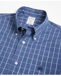 Brooks Brothers - Blue Non-iron Regent Fit Windowpane Sport Shirt for Men - Lyst