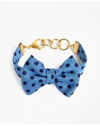 Brooks Brothers - Kiel James Patrick Blue And Navy Polka Dot Bow Tie Bracelet - Lyst