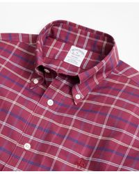 Brooks Brothers - Multicolor Non-iron Regent Fit Windowpane Sport Shirt for Men - Lyst
