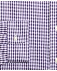 Brooks Brothers | Purple Non-iron Madison Fit Dobby Gingham Dress Shirt for Men | Lyst