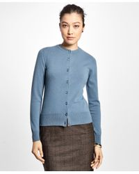 Brooks Brothers - Blue Long-sleeve Cashmere Cardigan - Lyst
