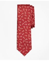 Brooks Brothers - Red Distressed Anchor Silk Tie for Men - Lyst
