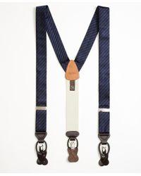 Brooks Brothers - Blue Tonal Stripe Suspenders for Men - Lyst