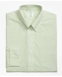 Brooks Brothers - Green Milano Slim-fit Dress Shirt, Non-iron Wide Stripe for Men - Lyst