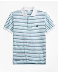 Brooks Brothers - Blue Original Fit Supima® Oxford Stripe Polo Shirt for Men - Lyst