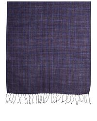 Brooks Brothers - Blue Windowpane Scarf for Men - Lyst