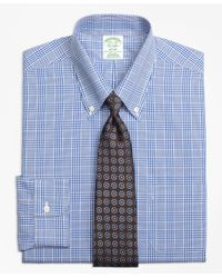 Brooks Brothers | Blue Non-iron Milano Fit Glen Plaid Dress Shirt for Men | Lyst