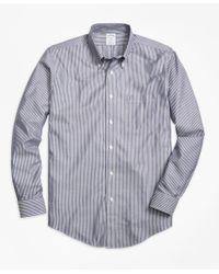 Brooks Brothers | Blue Non-iron Regent Fit Stripe Sport Shirt for Men | Lyst