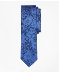 Brooks Brothers - Blue Floral Silk Tie for Men - Lyst
