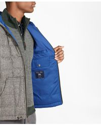 Brooks Brothers - Gray Plaid Water Repellent Wool Short Puffer Coat for Men - Lyst
