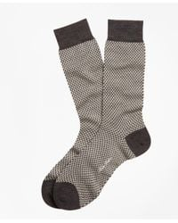 Brooks Brothers - Gray Basketweave Crew Socks for Men - Lyst