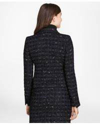 Brooks Brothers - Blue Checked Boucle Tweed Jacket - Lyst