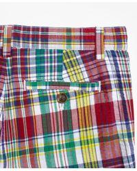Brooks Brothers - Multicolor Cotton Madras Seersucker Shorts for Men - Lyst