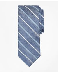 Brooks Brothers | Blue Linen Thick And Thin Stripe Tie for Men | Lyst