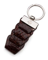 Brooks Brothers | Brown Alligator Key Fob for Men | Lyst