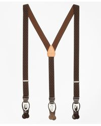 Brooks Brothers - Brown Polka Dot Suspenders for Men - Lyst