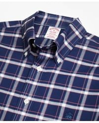 Brooks Brothers - Blue Non-iron Madison Fit Check Sport Shirt for Men - Lyst