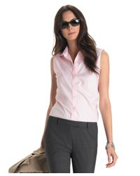 Brooks Brothers | Pink Non-iron Fitted Sleeveless Dress Shirt | Lyst