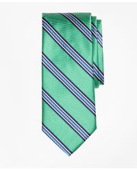 Brooks Brothers - Green Double-framed Stripe Tie for Men - Lyst