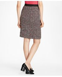 Brooks Brothers - Multicolor Boucle Pencil Skirt - Lyst