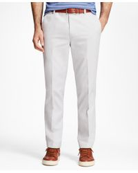 Brooks Brothers - Gray Non-iron Milano Fit Supima® Cotton Oxford Chinos for Men - Lyst
