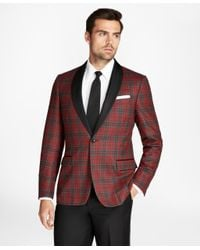Brooks Brothers - Red Regent Fit Tartan Tuxedo Jacket for Men - Lyst