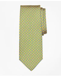 Brooks Brothers | Yellow Floatation Link Print Tie for Men | Lyst