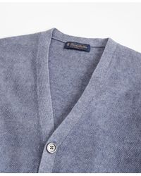 Brooks Brothers - Blue Linen Cardigan for Men - Lyst