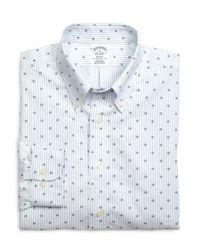 Brooks Brothers - Blue Non-iron Regent Fit Hibicus Stripe Sport Shirt for Men - Lyst