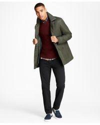 Brooks Brothers | Green Waxed Cotton Barn Coat for Men | Lyst