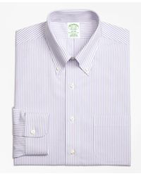Brooks Brothers - Black Milano Slim-fit Dress Shirt, Non-iron Bengal Stripe for Men - Lyst