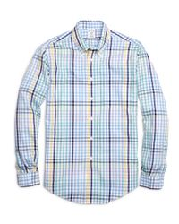 Brooks Brothers - Multicolor Non-iron Regent Fit Multi Gingham Sport Shirt for Men - Lyst