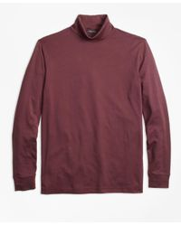 Brooks Brothers   Red Supima® Cotton Turtleneck for Men   Lyst