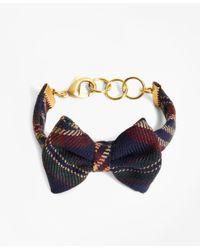 Brooks Brothers - Blue Kiel James Patrick Signature Tartan Bow Tie Bracelet - Lyst