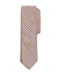 Brooks Brothers | Blue Mini Check Tie for Men | Lyst